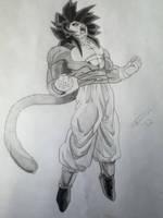 Goku's Furious Roar by AlphaTigron