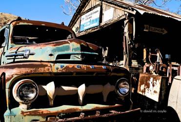 Old Service Station by DavidMCoyle