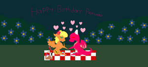 Pointy Art - A FlowerDragon Picnic by SummerSketch-MLP