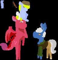 A pone, a derg and a bunbun - [POINTY ART] by SummerSketch-MLP