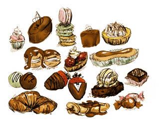 Pastries Doodle Dump by iCandiie