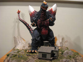 Space Godzilla Diorama by Legrandzilla