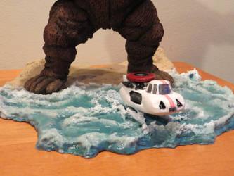 King Kong Escapes Diorama WIP 1 by Legrandzilla