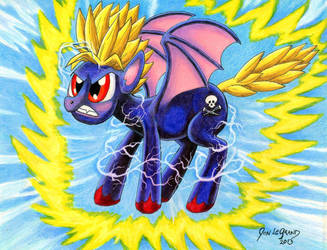 Super Saiyan Pony by Legrandzilla