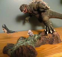 Daimos Godzilla 2002 vs Satsuma by Legrandzilla