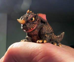 Aww Teensy Tiny Baragon Boo! by Legrandzilla