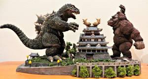 D-Tech Godzilla VS King Kong Finished! by Legrandzilla
