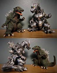 West Kenji Godzilla vs Kiryu by Legrandzilla