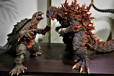 Gamera and Godzilla evolution by Legrandzilla