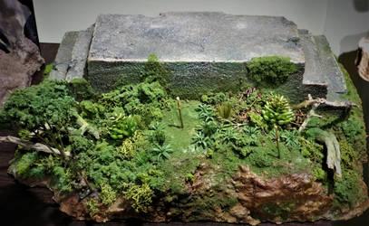 Billiken Kong Altar Scene WIP 6 by Legrandzilla