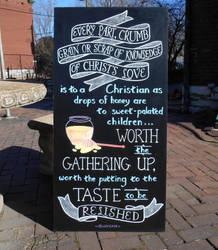Chapel Chalkboard by GetToTheLibrary