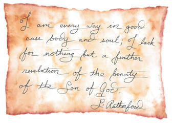 Rutherford quote on parchment by GetToTheLibrary
