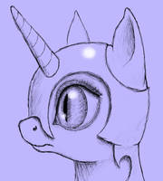 Nightmare Moon - quick eye study thing by Arrkhal