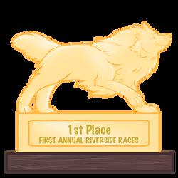 Riverside Races 1st place Trophy by Rhari