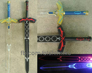 Fate Excalibur Swords With LED by aishicosplay