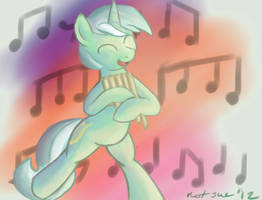 Lyra Pan Pipe doodle by Im-not-sue