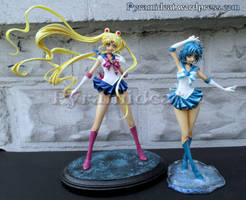 Sailor Moon Crystal Moon and Mercury Garage kit by Pyramidcat