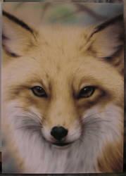 Airbrushed fox by BleedingBlack666
