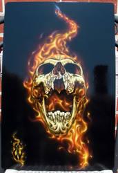 Screaming Skull by BleedingBlack666