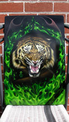 Airbrushed Tiger by BleedingBlack666