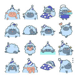 Anicon - Animal Complex - Sheep Sticker by muhoho-seijin