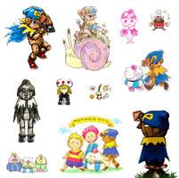 Mario RPG doodles by aru0