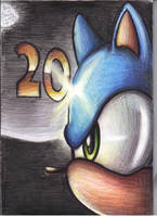sonic 20 years of running by supersonicartdrawer