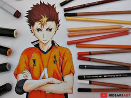 Yuu Nishinoya || Haikyuu!! by HideakiArtReal