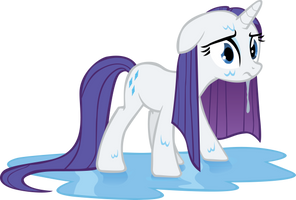 Rarity's All Wet by TecknoJock