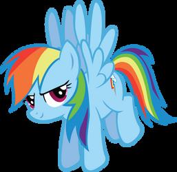 Smug Rainbow Dash by TecknoJock