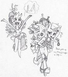 Trixie and Derpy Finally Arrive! by ReyJJJ