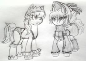 Species Swap Triangle: Liru, Freya--to Earth Pony by ReyJJJ