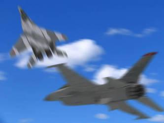 F-16C vs MiG-29 by AceTomcat