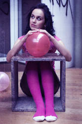 Pink balloons by efrengonza