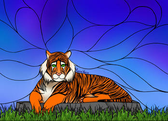 Stained Glass Tiger by PassiveWarrior