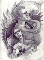 Katniss and Peeta by ArtJayTi