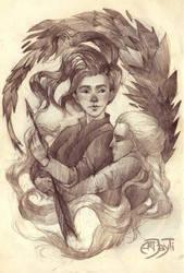 Katniss and Prim by ArtJayTi