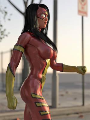 Spiderwoman vs Hulk 1 by DahriAlGhul