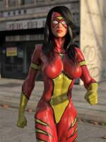 Spiderwoman vs Hulk 2 by DahriAlGhul