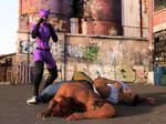 Catwoman fights two thugs 27 by DahriAlGhul