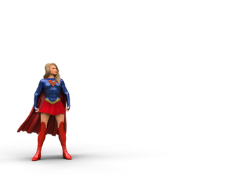 Supergirl beats a tank: pose by DahriAlGhul