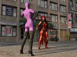 Elektra vs Catwoman 1 by DahriAlGhul