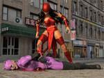 Elektra vs Catwoman 4 by DahriAlGhul
