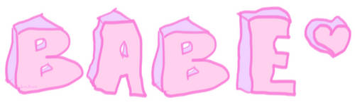 BABE, Pastel Grunge Sticker by Bonbuni