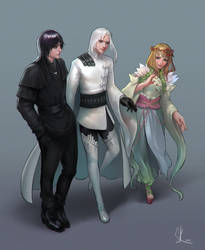 Commission - Aulus, Florentin, Honora by SKtneh