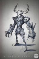Inktober Demon by MangoKingoroo