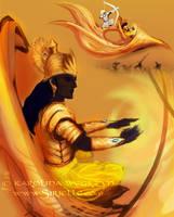 Mahabharata  - Krishna and vimana speedy by Sirielle