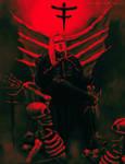 Vampire Warrior in Cloak by Sirielle