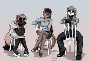 The Musteladies by MykeGreywolf