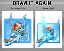 Rainbow Dash: Side-by-Side Comparison by MykeGreywolf